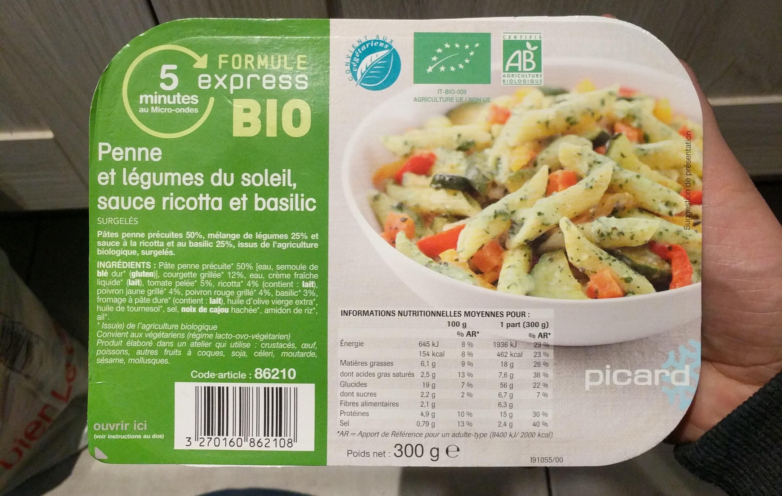 Penne et légumes du soleil Bio - Product
