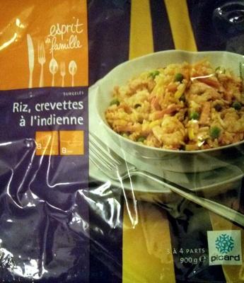 Riz, crevettes à l'indienne - Product