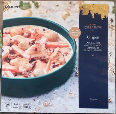 Chapon sauce foie gras, châtaignes et figues séchées - Prodotto - fr