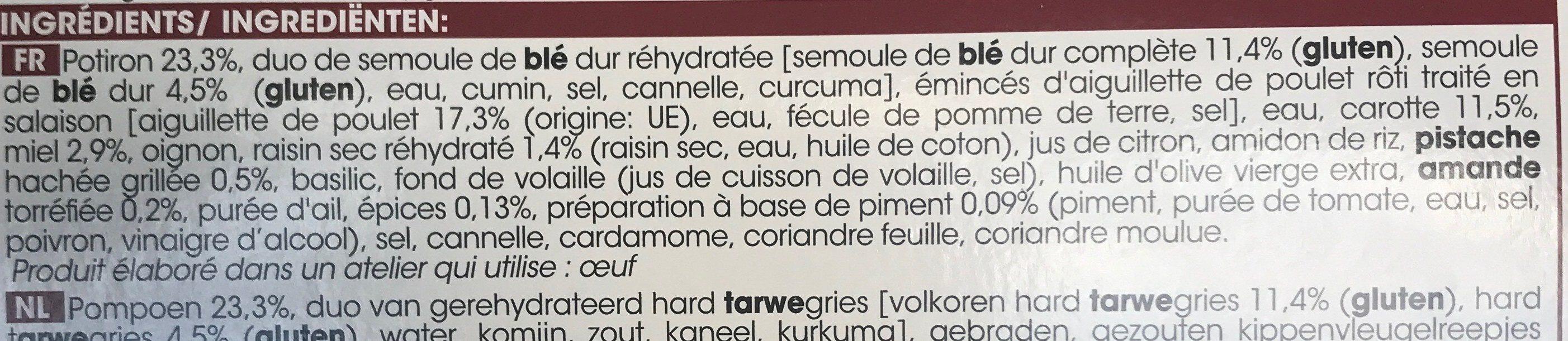 D'équilibre - Aiguillettes de poulet - Ingrediënten - fr