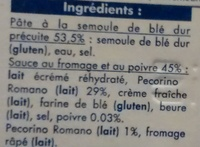 Spaghetti cacio e pepe - Ingrediënten