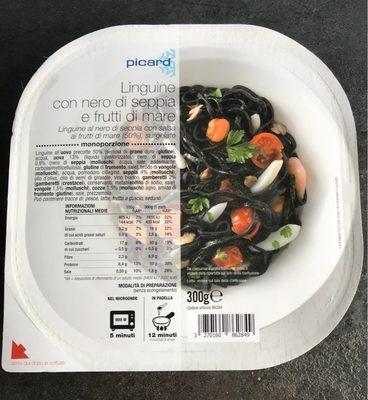 Linguine con nero di seppia e frutti di mare - Produit - fr