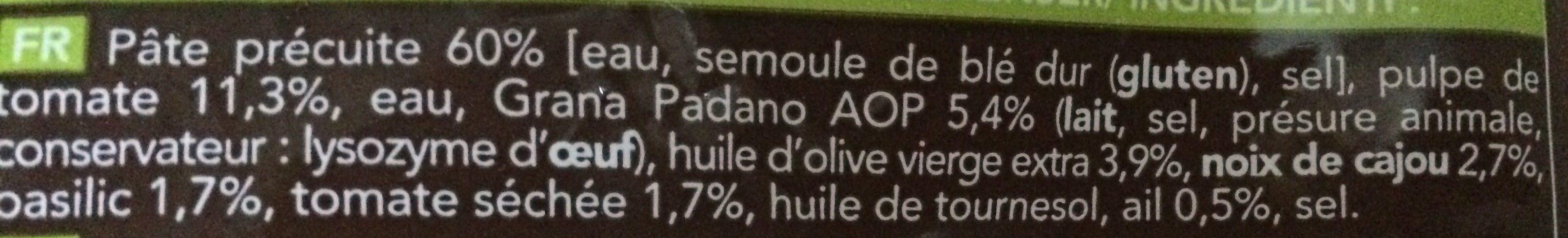 Pâtes linguines aux pesto rosso - Ingrediënten