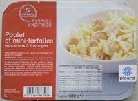 Poulet et mini-farfalles sauce aux 3 fromages - Produit