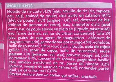 Pad Thaï - Ingrédients - fr