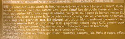 Bibimbap - Ingredients