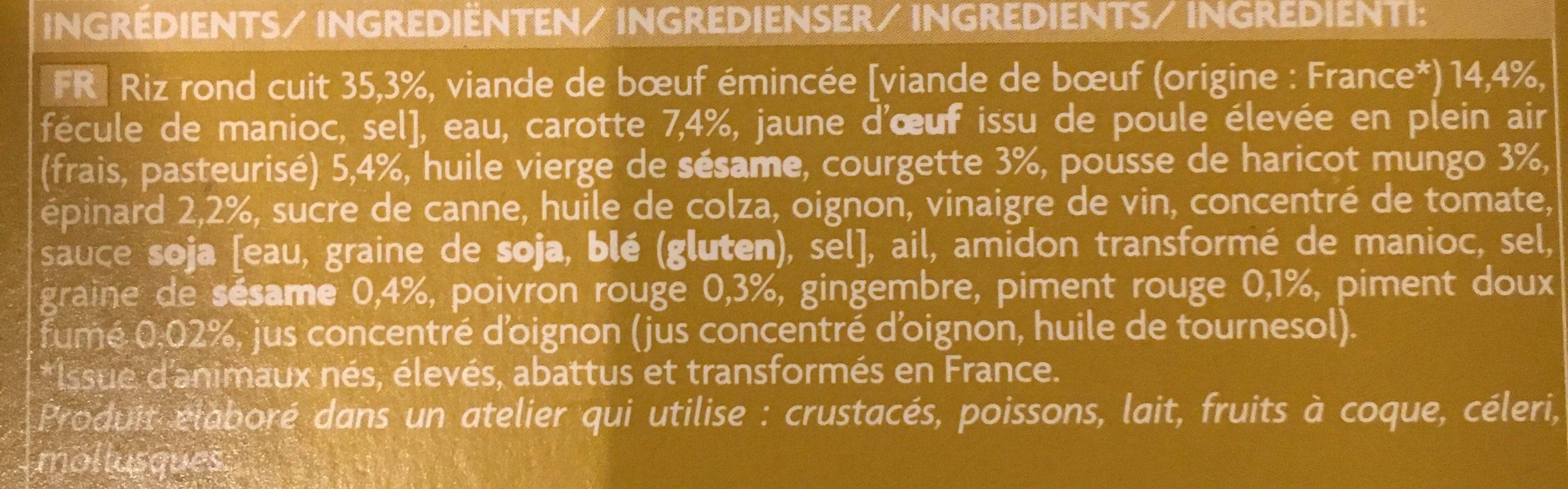 Bibimbap - Ingredients - fr