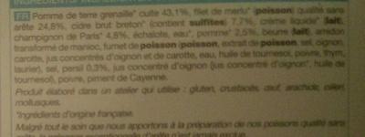 Merlu sauce au cidre et pommes de terre grenaille - Ingredients
