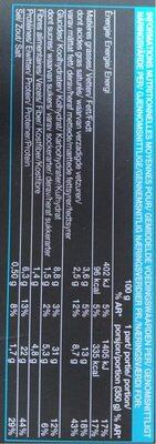Merlu blanc sauce au cidre - Informations nutritionnelles - fr