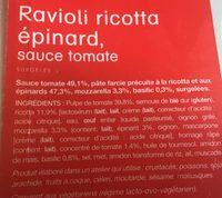 Ravioli ricotta épinard - Ingrediënten - fr