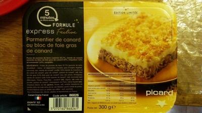 parmentier de canard au bloc de foie gras de canard picard 300 g. Black Bedroom Furniture Sets. Home Design Ideas