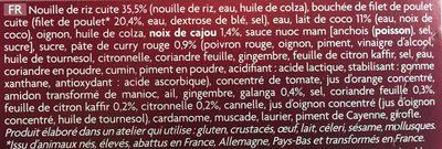Poulet Sauce Curry Massaman et Nouilles de Riz Cuisinées - Ingrédients