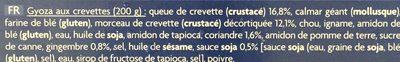8 Gyozas aux Crevettes - Ingredients - fr