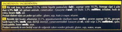 Lingot riz et asperges vertes - Ingrédients - fr