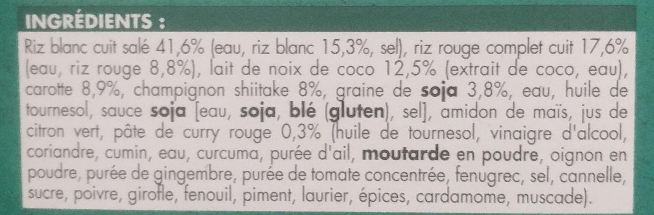 Céréales à l'asiatique - Ingrédients - fr