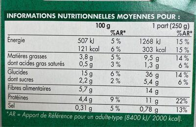 Céréales à la péruvienne - Informations nutritionnelles - fr