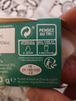 Céréales à la péruvienne - Instruction de recyclage et/ou informations d'emballage - fr