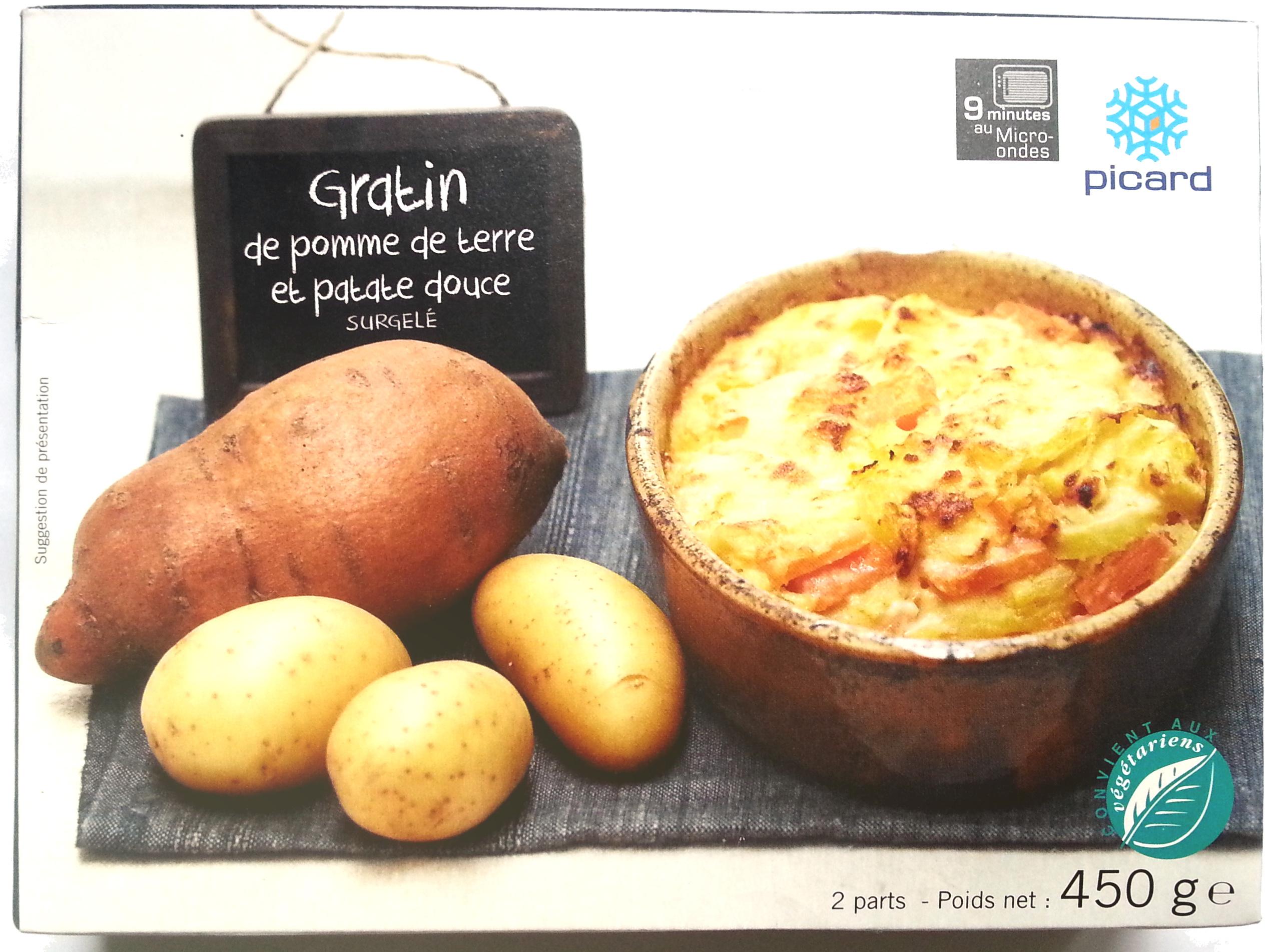 gratin de pomme de terre et patate douce picard 450 g. Black Bedroom Furniture Sets. Home Design Ideas