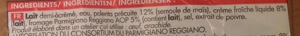 Polenta au Parmigiano Reggiano surgelée - Ingrédients