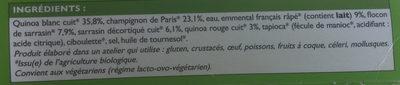 Galettes de Céréales à la Parisienne - Ingrédients