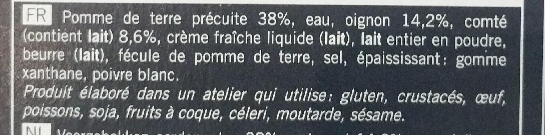 Gratin de pomme de terre, oignon, comté surgelé - Ingredients - fr