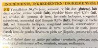 4 Mini-Gratins de Pâtes au Fromage - Ingrédients