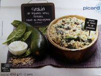 Gratin de légumes verts, céréales, sauce mascarpone - Produit