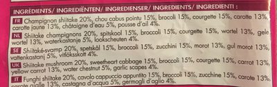 Mélange de Légumes Asiatiques - Ingredients