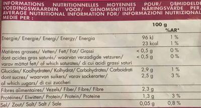 Mélange de Légumes Asiatiques - Nutrition facts