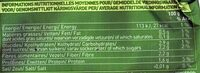 Poireaux émincés Bio - Informations nutritionnelles - fr
