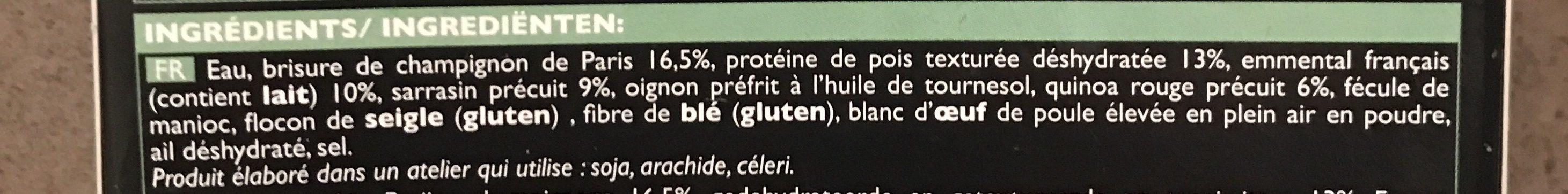 Galettes Végétales à la parisienne - Ingrédients