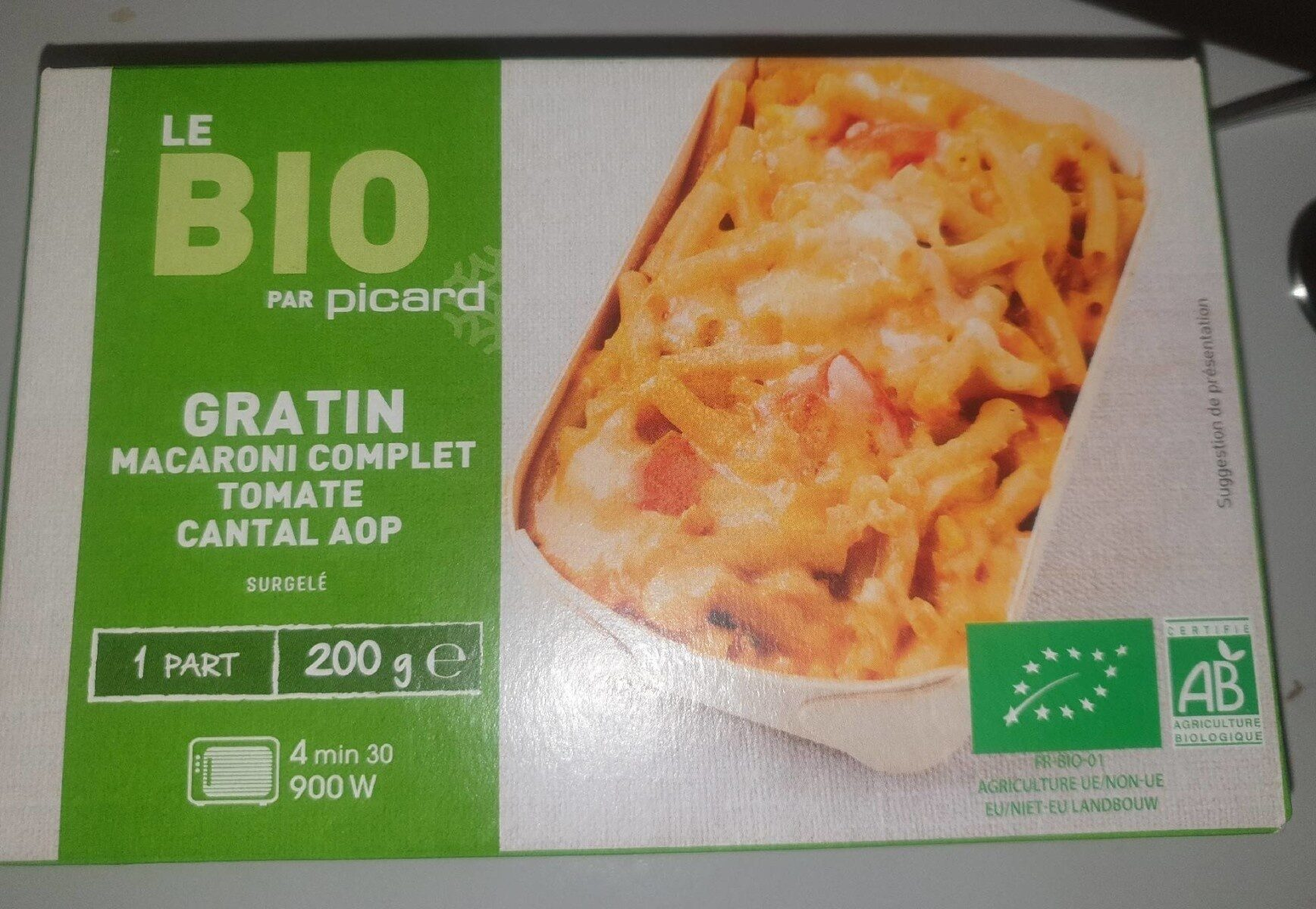 Gratin Macaroni Complet Tomate Cantal AOP - Prodotto - fr