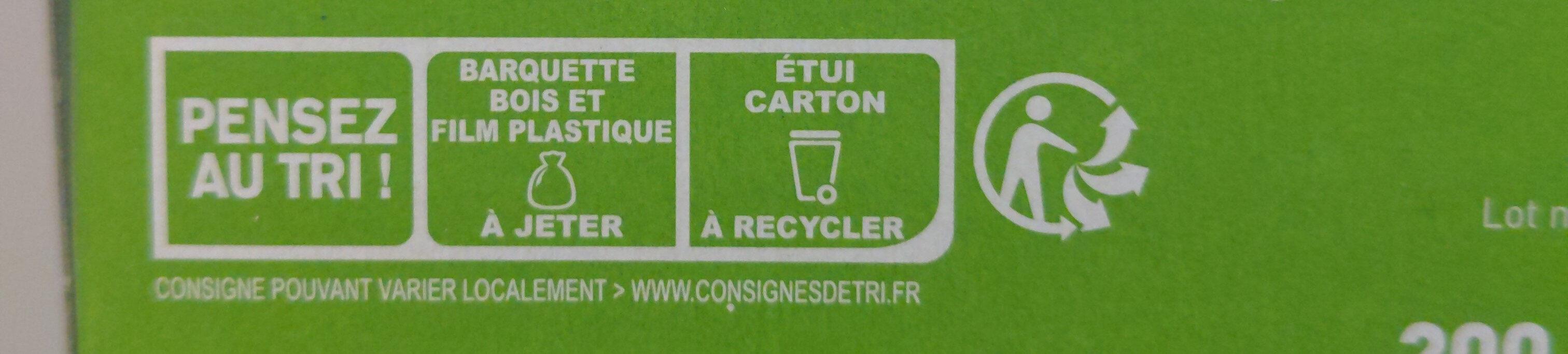 Gratin Macaroni Complet Tomate Cantal AOP - Istruzioni per il riciclaggio e/o informazioni sull'imballaggio - fr