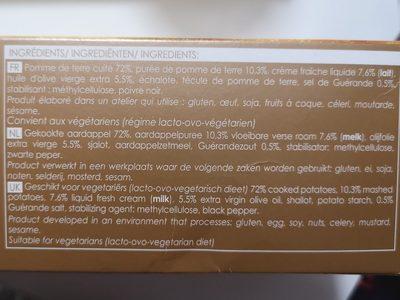 Sapins de pommes de terre - Ingredients