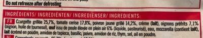Préparation tarte légumes du soleil - Ingredients - fr