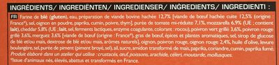 Pizza N°9 - Boeuf, Merguez, Sauce Salsa - Ingredients - fr