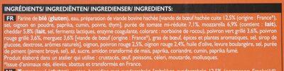 Pizza N°9 - Boeuf, merguez, sauce Salsa - Ingrediënten - fr