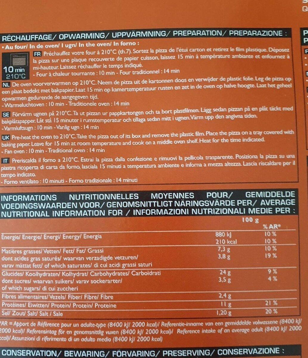 Pizza N°9 - Boeuf, Merguez, Sauce Salsa - Nutrition facts - fr