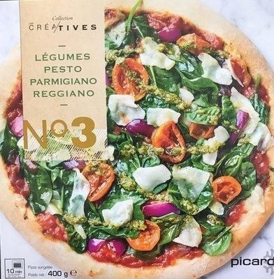 Pizza N°3 - Légumes, Pesto, Parmesano Reggiano - Produit - fr