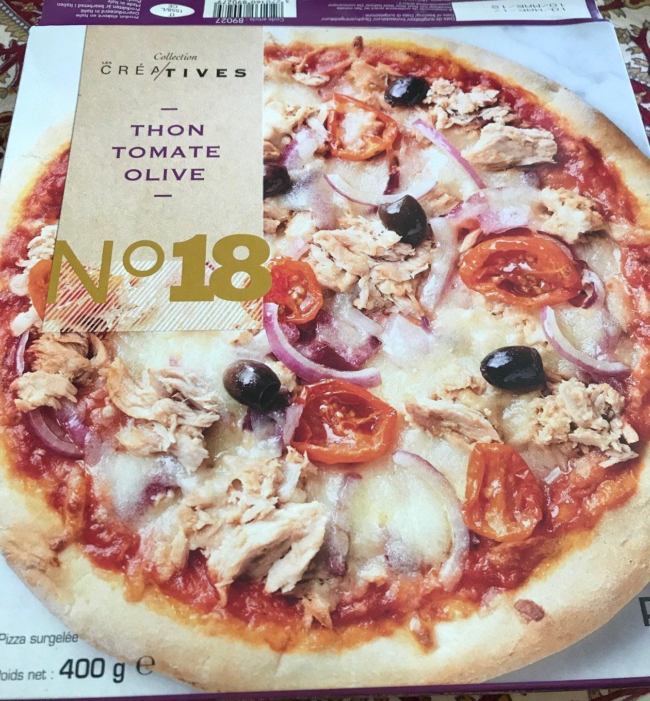 Pizza Créatives Thon tomate Olive - Produit
