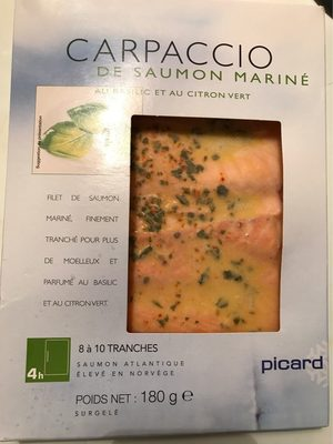 Carpaccio de Saumon Mariné - Product