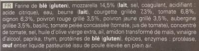 4 Paniers Mozzarella Légumes du Soleil - Ingrediënten