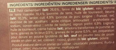 Camembert Gourmand, Pommes de Terre, Lardon, Oignons Cuisinés - Ingrédients