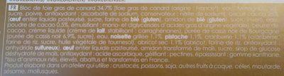 8 Bouchées Apéritives au Bloc de Foie Gras de Canard - Ingrédients