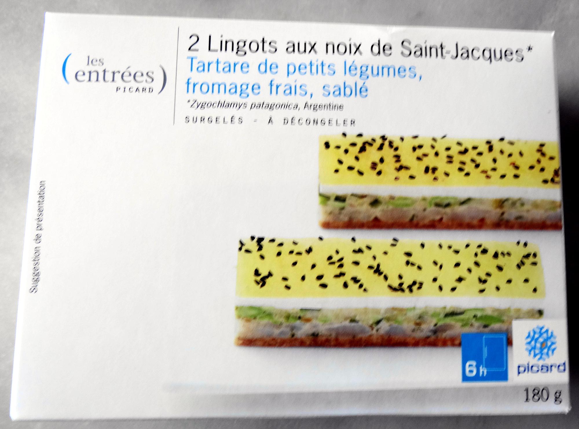 2 Lingots aux noix de Saint-Jacques* - surgelés - Product - fr