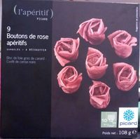 9 boutons de rose apéritifs - Produit