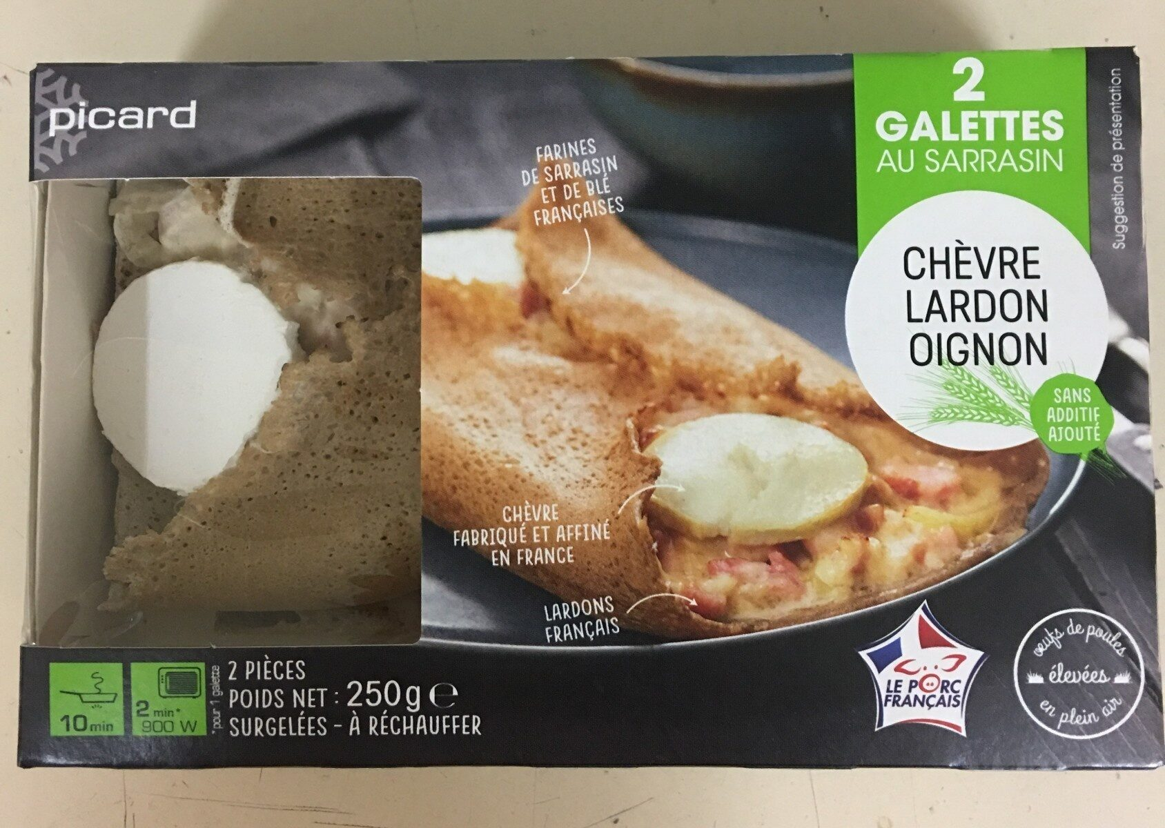 2 galettes chèvre-lardon-oignon - Produit - fr