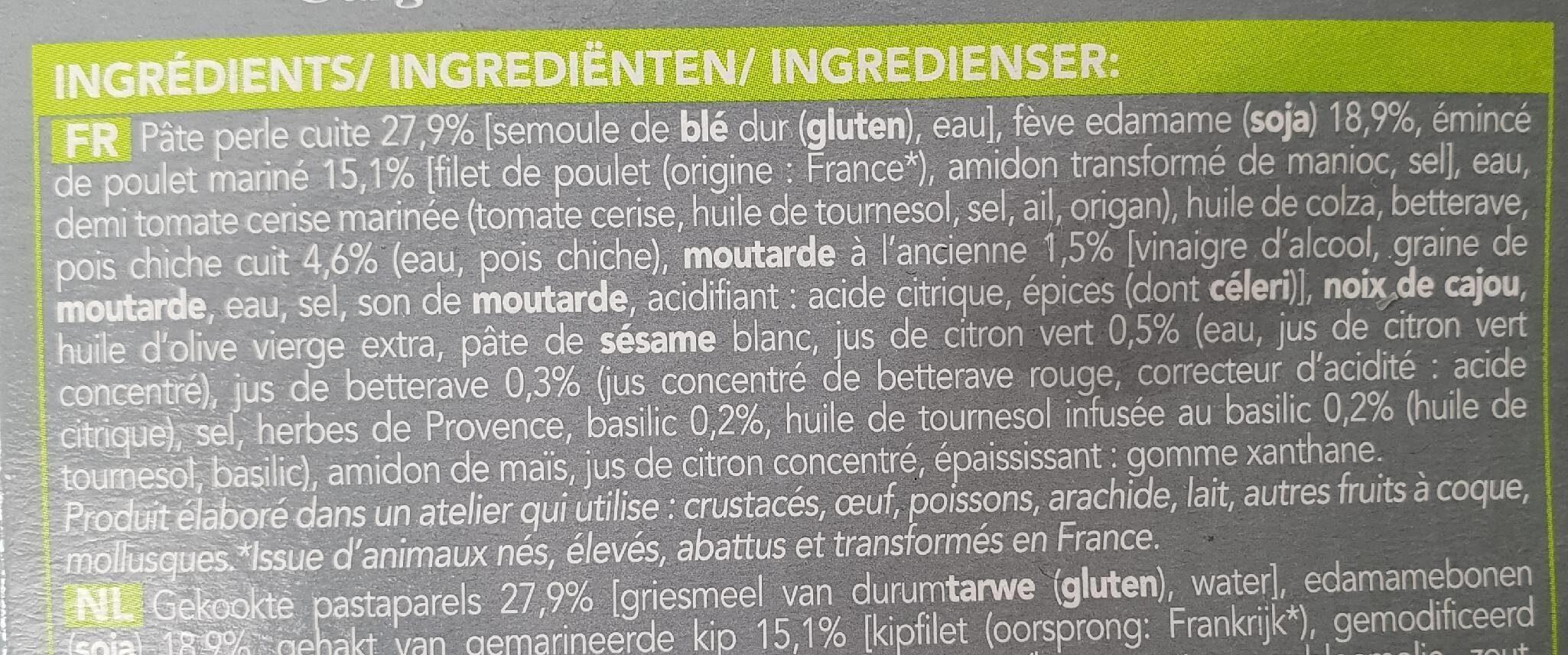 Salad bowl au poulet - Ingrédients - fr
