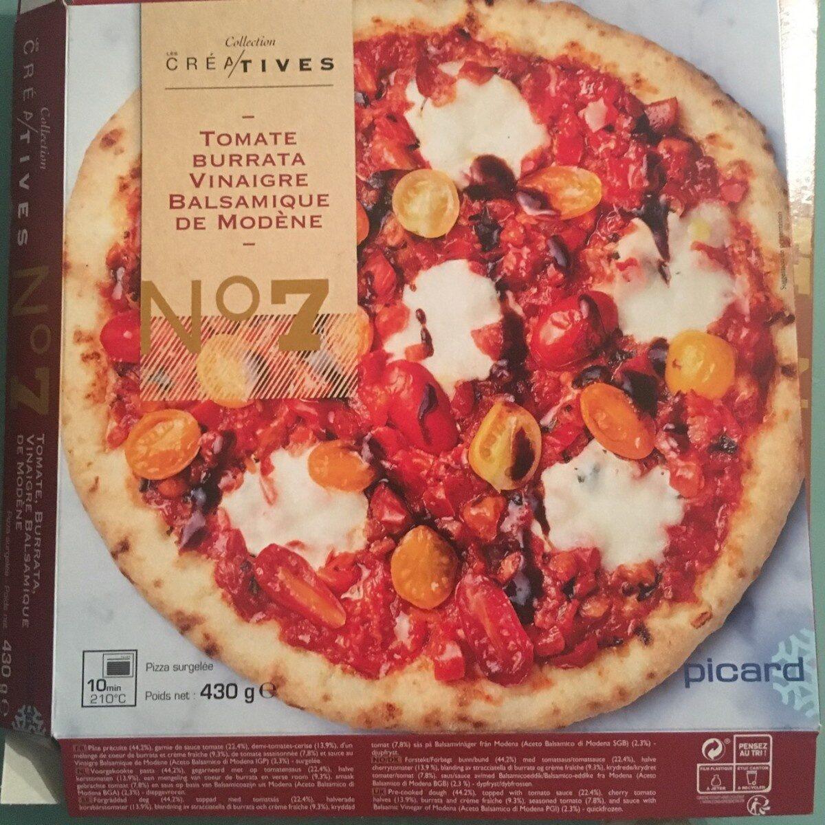 Pizza N°7 - Tomate, Burrata, Vinaigre Balsamique de Modène - Product - fr