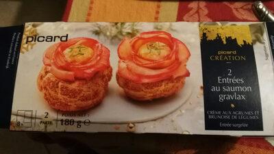 2 Entrées au saumon Gravlax - Produit - fr